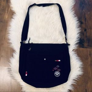 Roxy Crossbody Black Canvas Computer/Book Bag